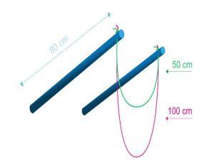 Schéma du bâton à bulles