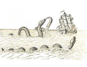 Déjà un serpent de mer… gravure du 17ème siècle