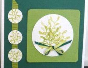 L'utilisation d'un shape cutter pour une carte de Noël
