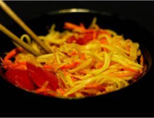 Recette du Som Tam (salade de papaye verte)
