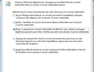 Protection anti-spam Windows Mail