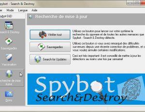 Le logiciel Spybot