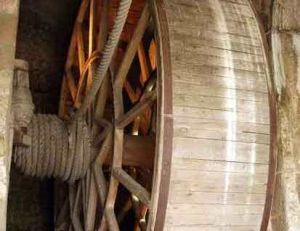 """""""Cage d'écureuil"""" au Mont Saint Michel"""
