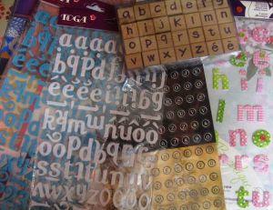 Utiliser des lettres stickers