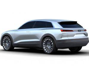 Vue d'artiste du SUV électrique que pourrait présenter Audi lors du salon de l'automobile de Francfort - copyright Audi