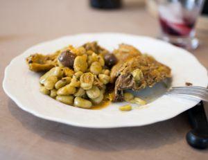 Recette du tajine de poulet aux fèves