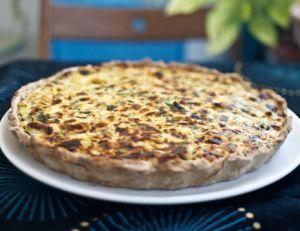 Recette de la tarte aux poireaux et au parmesan
