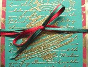Le technique de l'embossage pour une carte de Noël