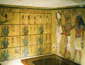 Aperçu des parois de la chambre funéraire de Toutankhamon -© CC BY SA 3.0
