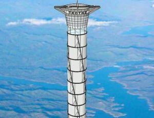 Aperçu de ce à quoi pourrait ressembler à terme la tour de Thoth Technology pour se rendre dans l'Espace - copyright Thoth Technology