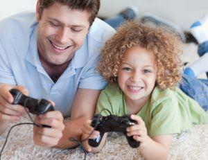 Jouer à la console pour un moment de détente