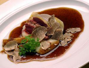 Filets de turbot à la sauce aux truffes