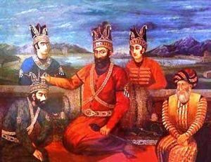 Dignitaires turcomans dans la région de Khiva (actuel Ouzbékistan) au 18 ème siècle