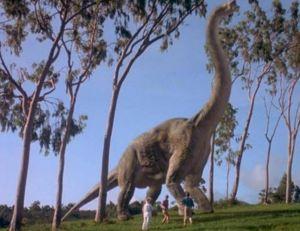 Un Brontausaure dans Jurassic Park - Universal Pictures