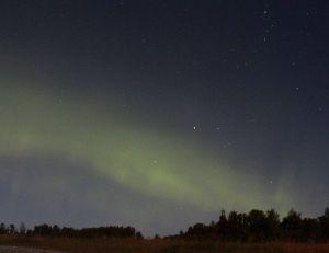 Une aurore boréale - by-sa wikimedia commons
