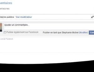 Formulaire d'ajout de commentaire via votre compte Facebook