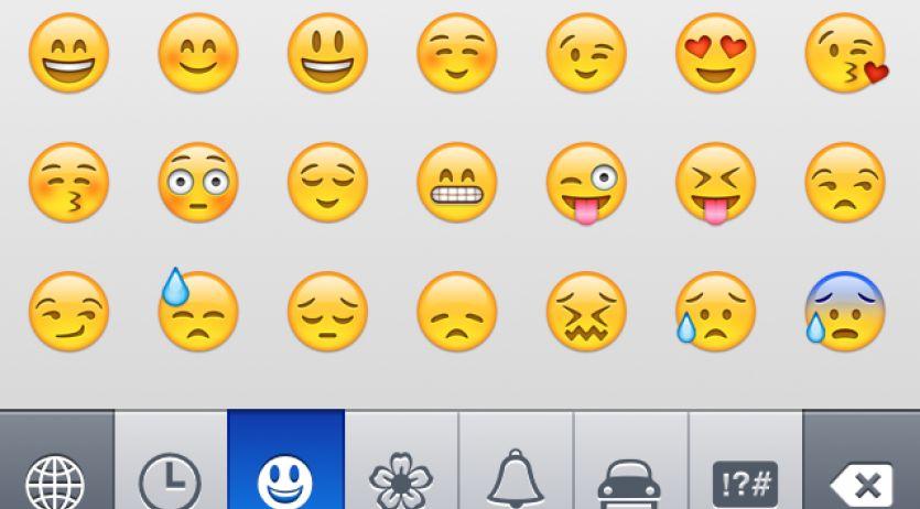Smileys et emoticons sur iPhone