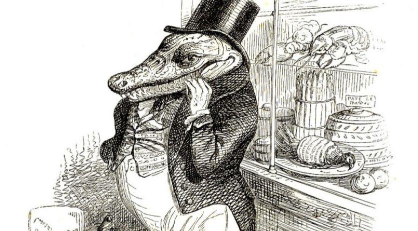 Gravure de Grandville - Scènes de la vie privées et publiques des animaux