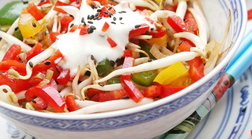 Salade aux germes de soja