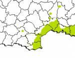 Répartition des tarentes de Maurétanie en France