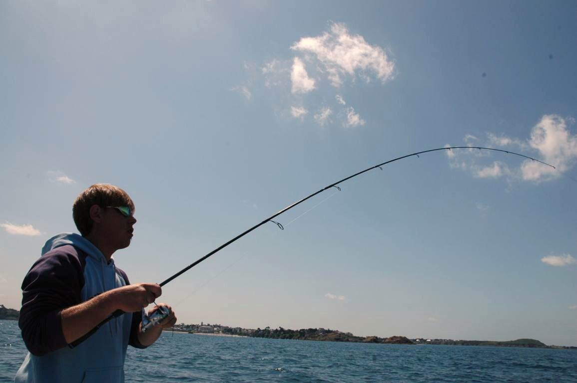 Le printemps précoce la pêche sur loeil de vidéo