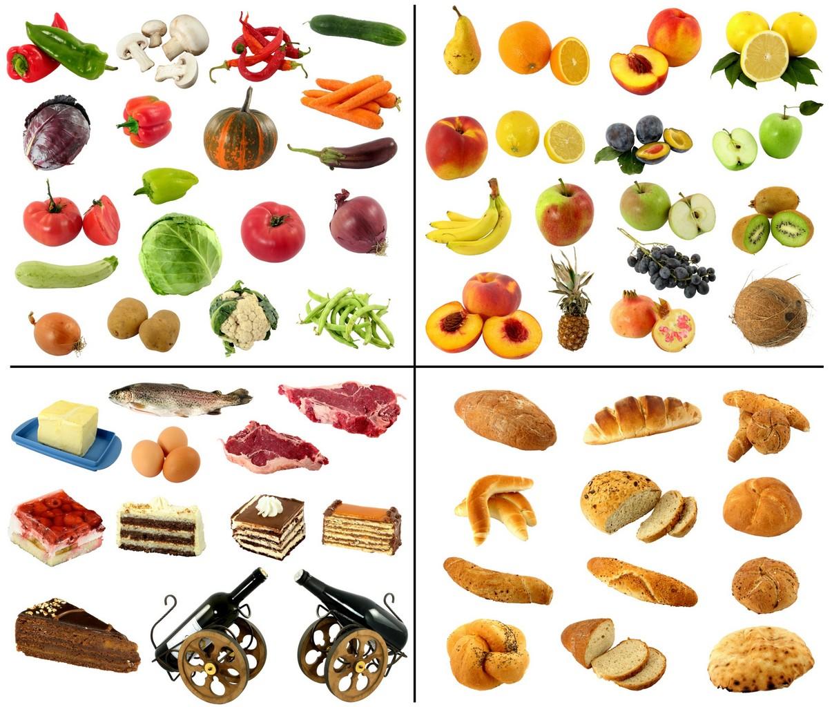 Tableau de prsentation des groupes alimentaires - Tte