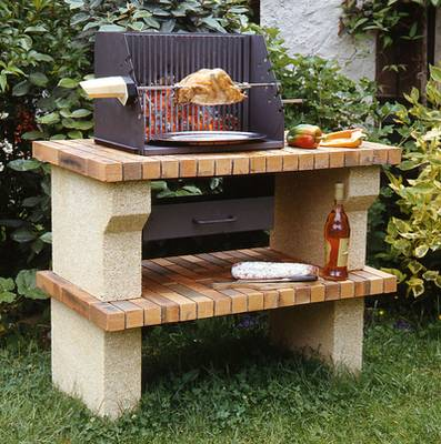 Construire un barbecue de jardin for Fabrication barbecue exterieur