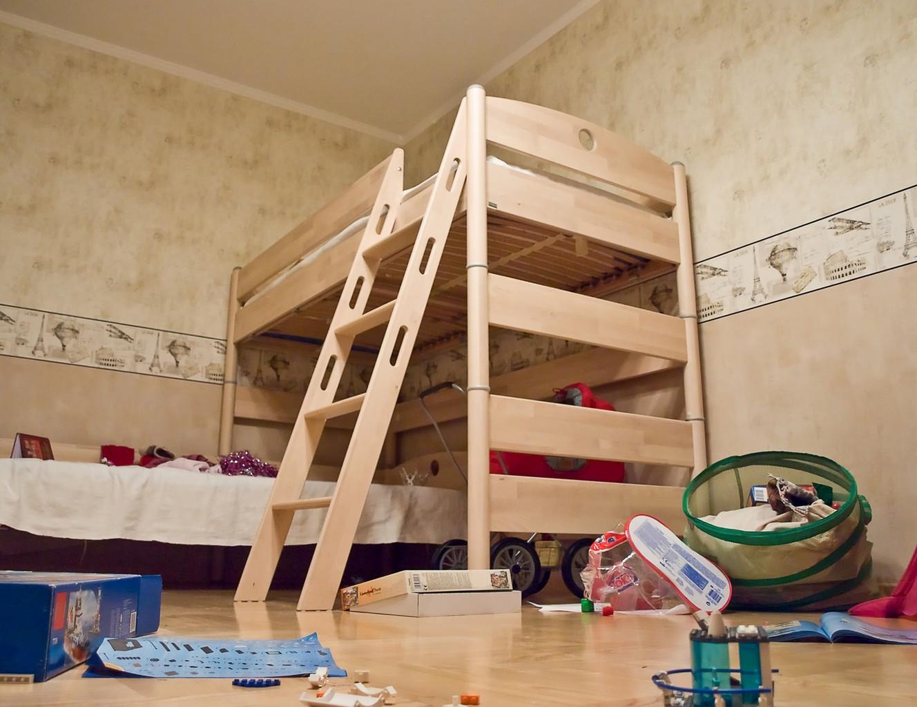 Construire une mezzanine ou un lit mezzanine for Photo lit mezzanine