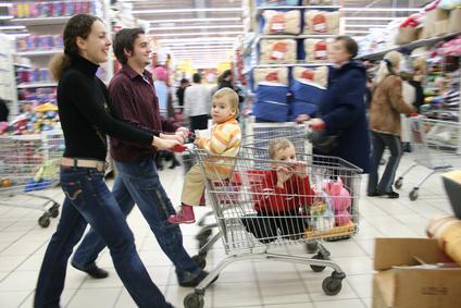 Consommation faire ses courses co te de moins en moins - Chariot de course auchan ...