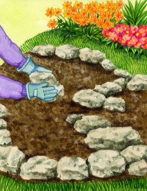 Rocaille jardin cr er une rocaille for Modele de rocaille de jardin