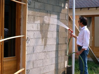 Recouvrir Un Mur Exterieur En Parpaing Perfect Problmes Duhumidit With  Enduit Mur Parpaing Exterieur