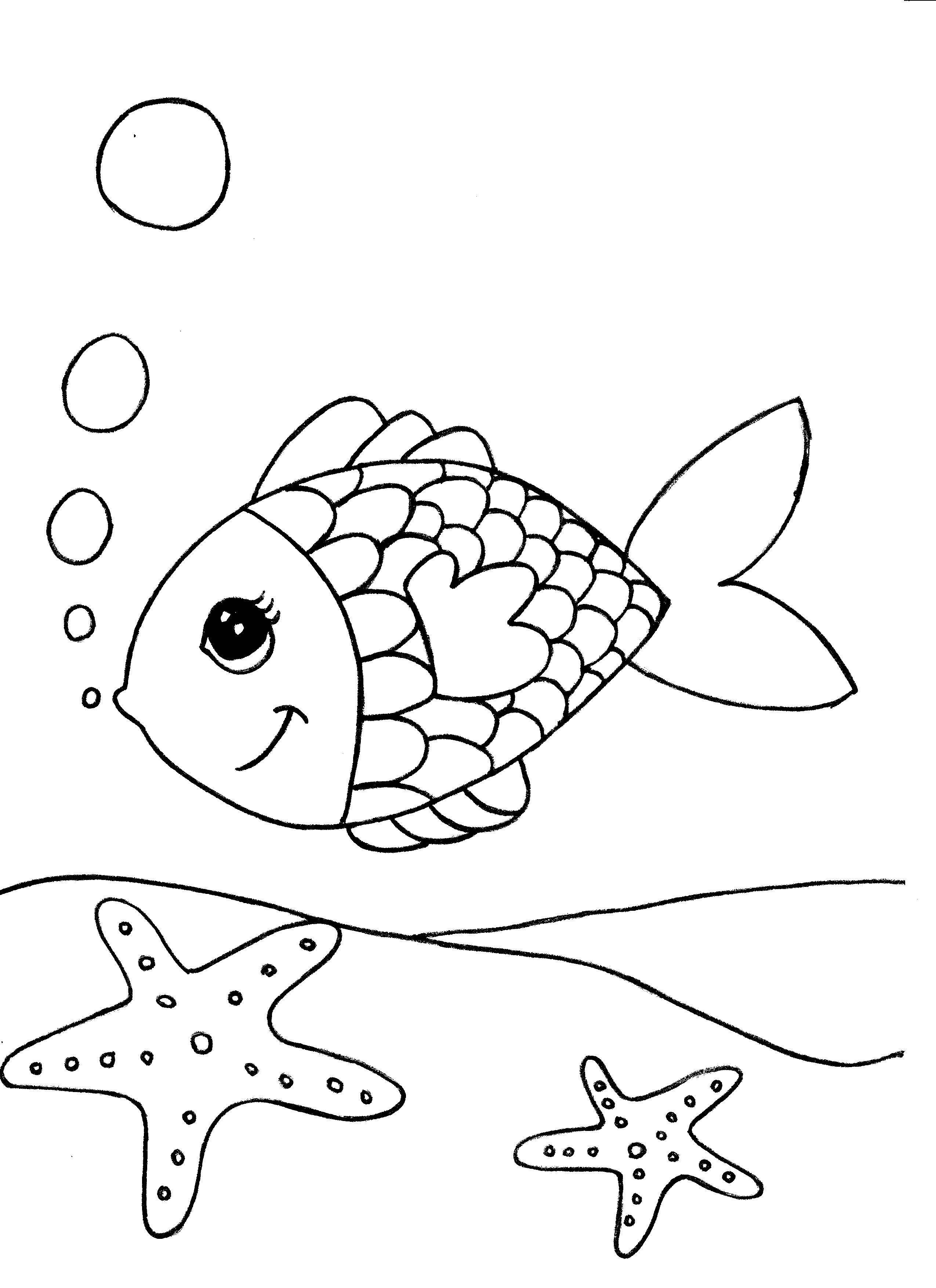 Mod les de coloriage pour enfants t l charger - Dessine un poisson ...