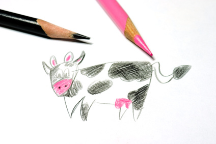 Dessiner une vache - Vache dessin facile ...