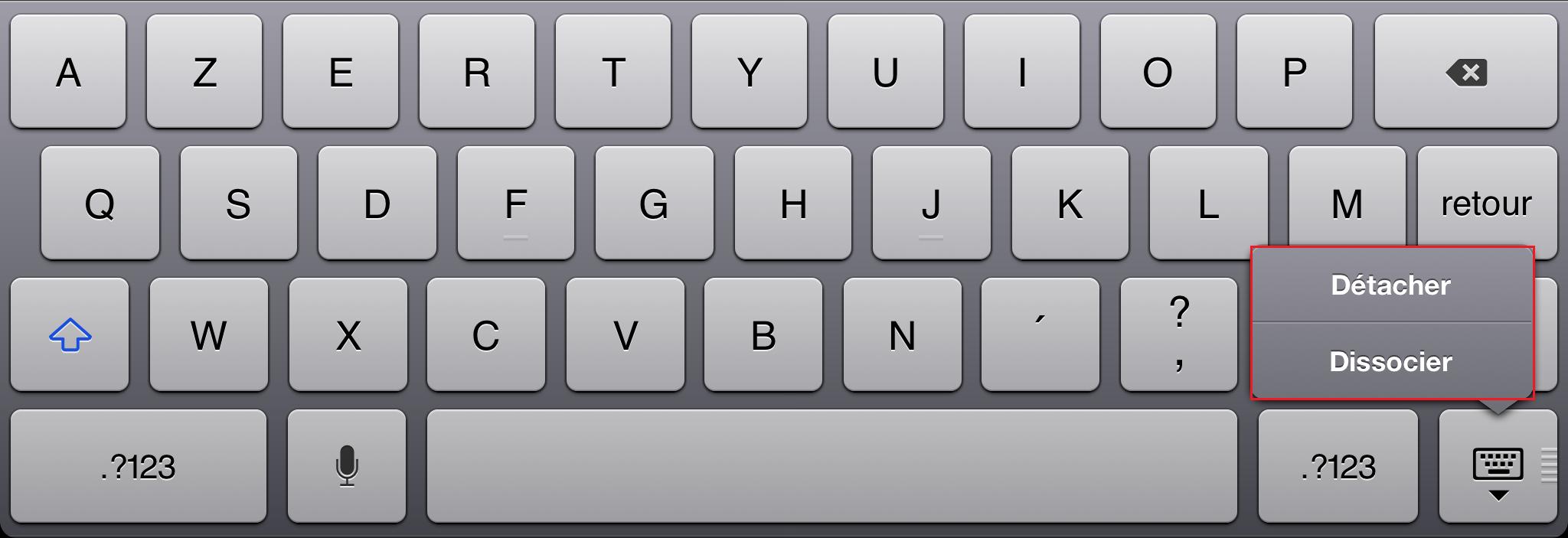 Astuces ipad les raccourcis et gestes incontournables for Les parties du clavier