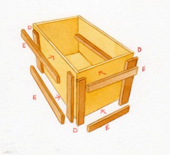 Construire un bac fleurs - Fabriquer un tiroir en contreplaque ...