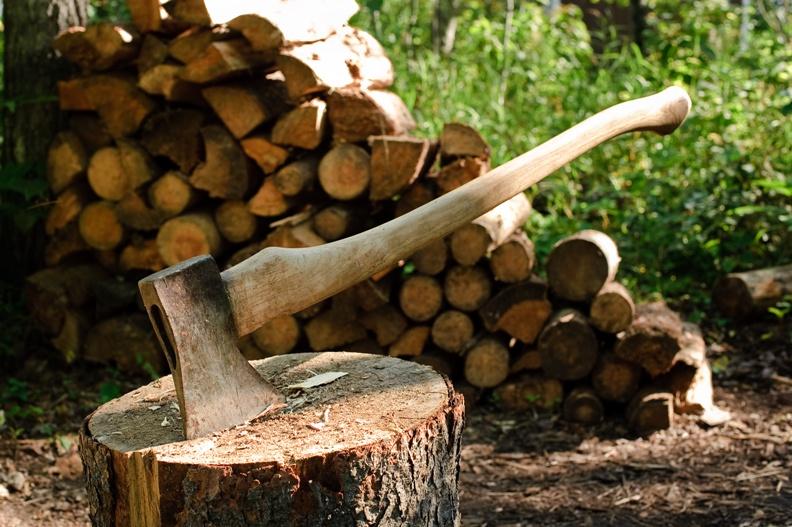 Fendre du bois - Support pour couper du bois de chauffage ...