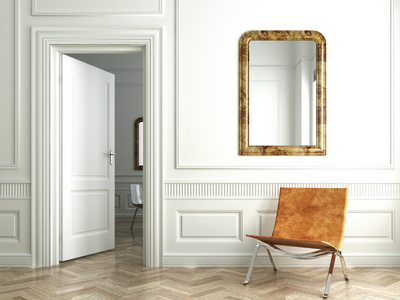 miroir mural fixer un miroir au mur. Black Bedroom Furniture Sets. Home Design Ideas