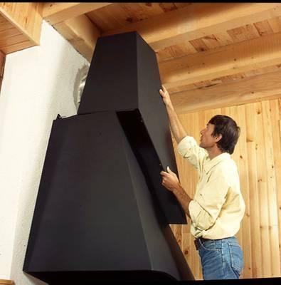 Installation d 39 une chemin e - Construire cheminee foyer ouvert ...