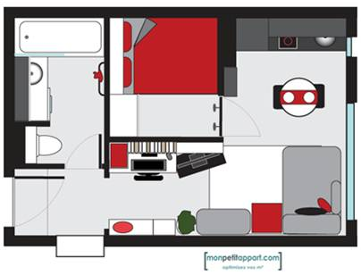 Plan Appartement 30m2 Studio