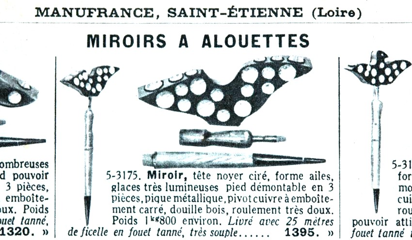 Alouette culture gastronomie histoire et chasse des for Miroir au alouette