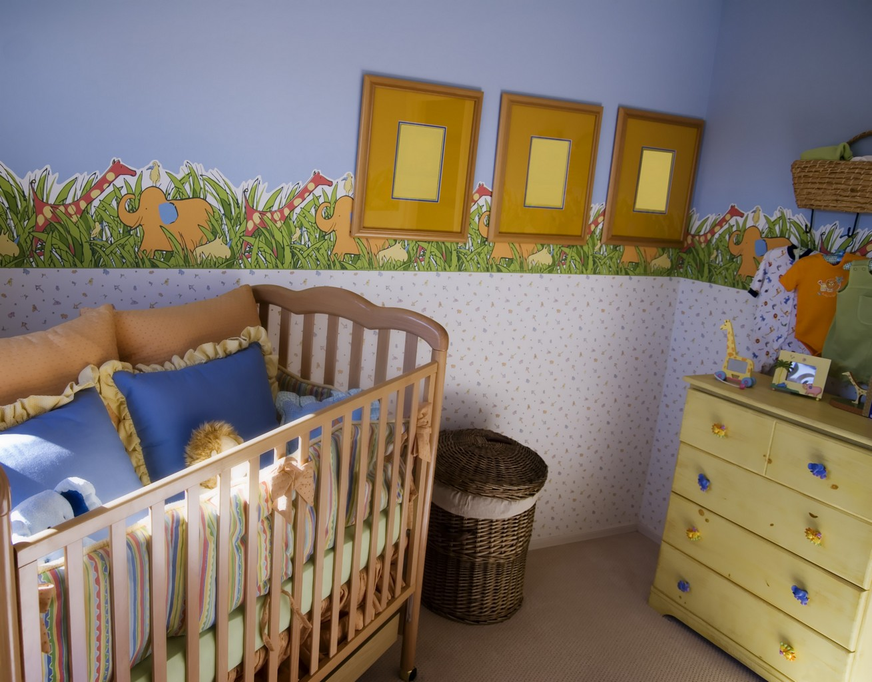 Maison de luxe moderne plan - Coloriage decoration dune chambre de bebe ...