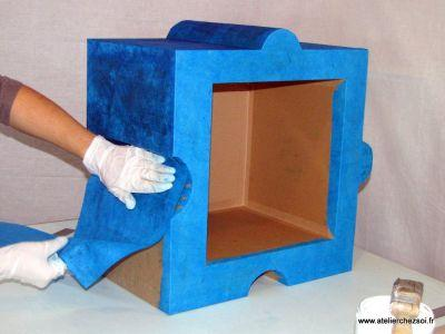 D corer un meuble avec du papier for Papier a coller sur meuble