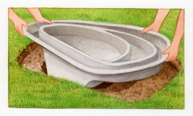 Petits bassins de jardin comment les installer for Coque bassin poisson