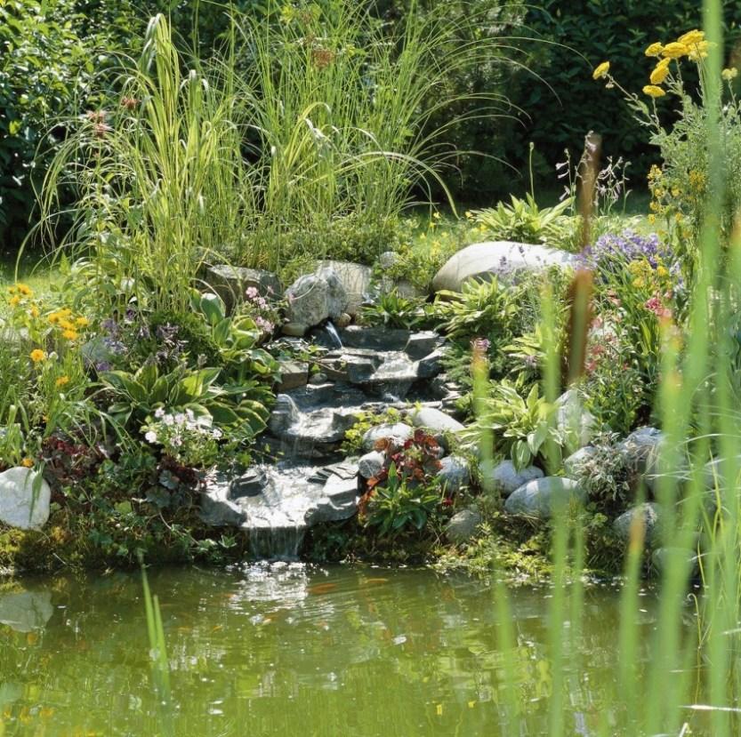 Cascade d eau pour bassin id es de conception sont int ressants votre d cor - Creer un bassin avec cascade ...