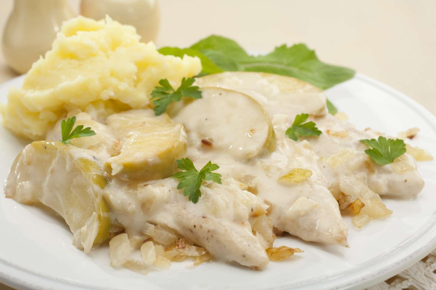 recette du poulet de bresse  u00e0 la cr u00e8me