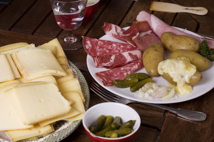 Raclette ingredients