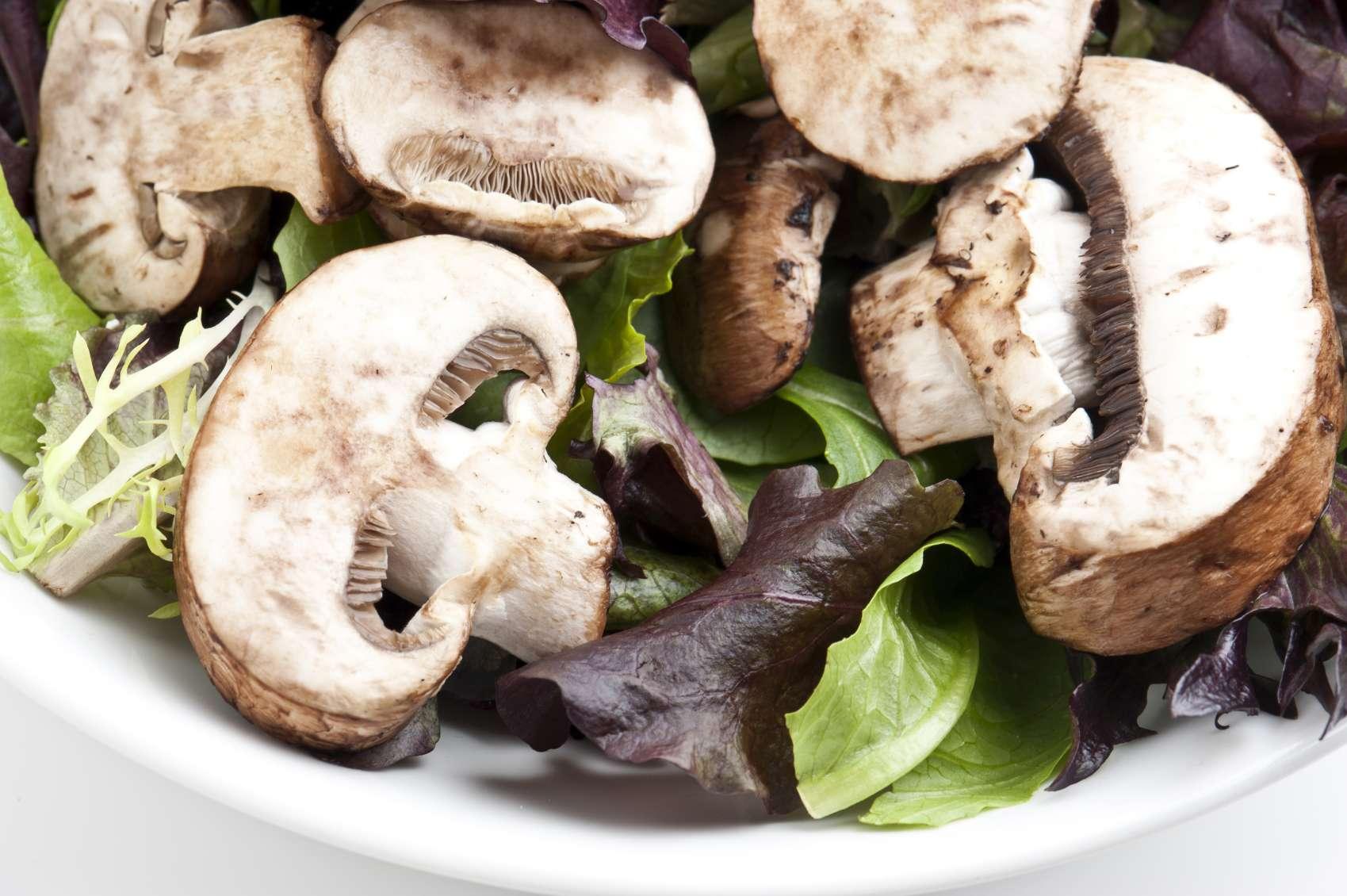 Salade de champignons de paris au parmesan - Salade de champignons frais ...