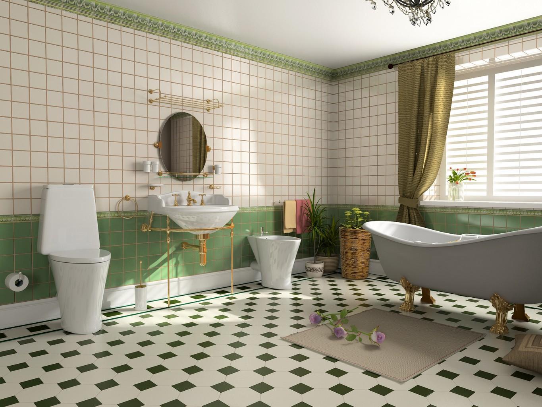 Salle de bain retro : création d\'une salle de bain esprit rétro ...