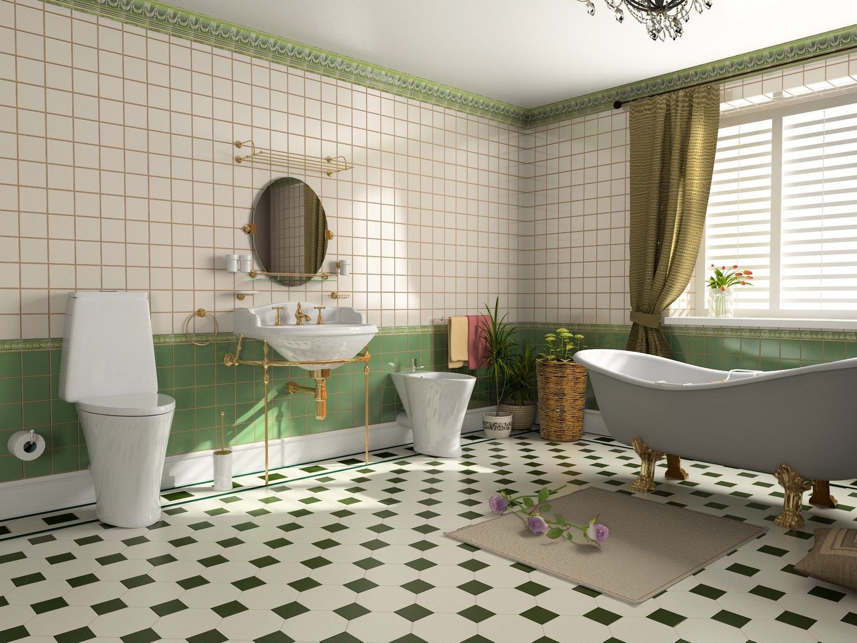 Salle de bain retro cr ation d 39 une salle de bain esprit - Salle de bain retro photo ...