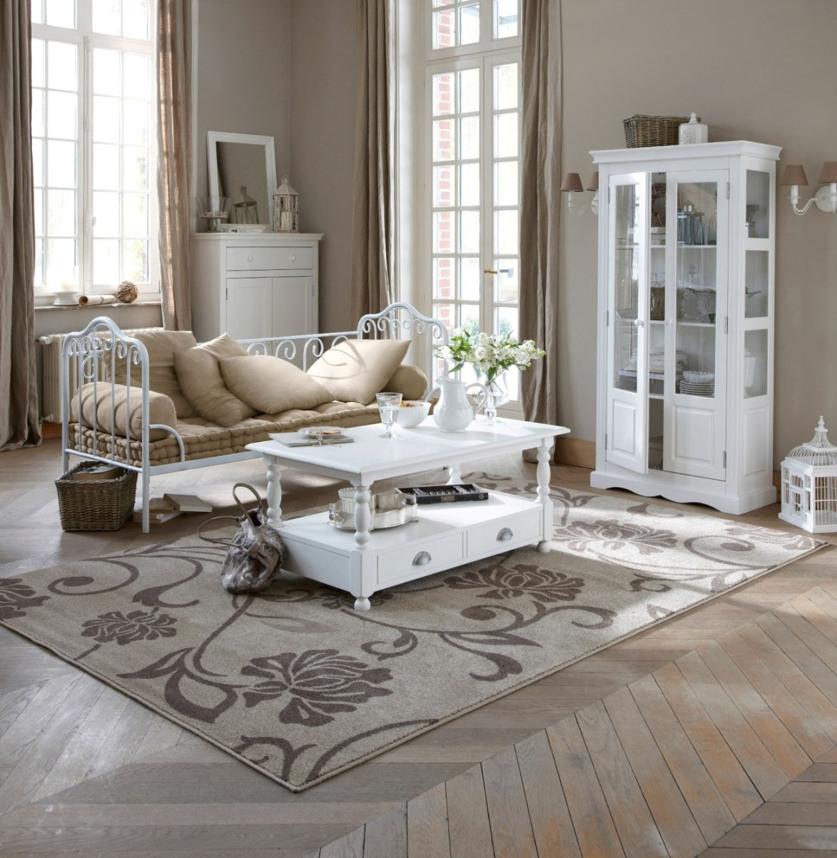 Salon esprit brocante - Salon style campagne chic ...